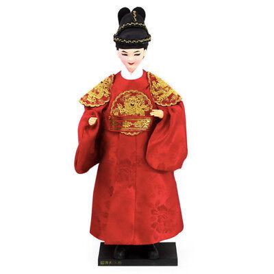 "Korean Traditional Handicraft Hanbok Doll The King 13.7"" Collectible Figure Gift"