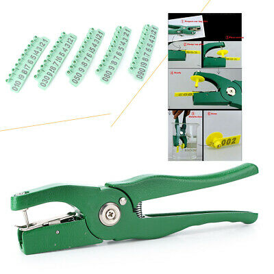 Applicator Puncher Tagger 1ear Tag Pig Plier Sheep Goat Hog Cattle Cow 100 Pcs