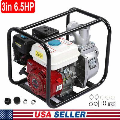 3 Inch Gas Water Semi Trash Pump Petrol High Pressure Garden Irrigation Transfer