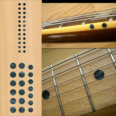 Fret Markers Inlay Sticker Decal Guitar & Bass Neck - Custom Dot SET Black Pearl