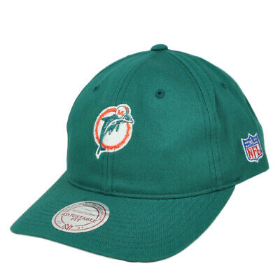 NFL Mitchell & Ness Miami Dolphins Turquoise QD16Z Strapback Curved Bill Hat Cap Miami Dolphins Cap