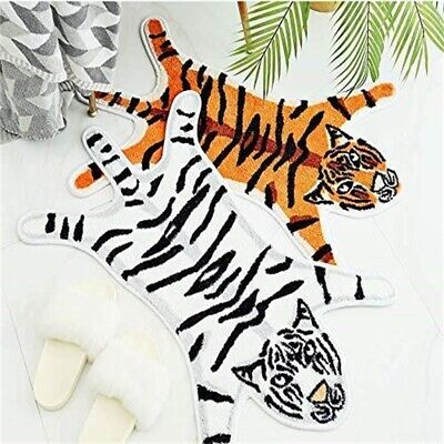 Tiger Printed Rug/ MatDoor/ Carpet Cute Faux Hide Non-Slip Floor Carpet Mat -