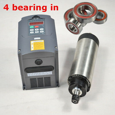 Cnc Four Bearing Er11 1.5kw Air-coole Spindle Motor And Matching Inverter
