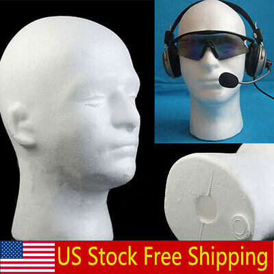 Male Polystyrene Styrofoam Foam Head Model Stand Wig Hair Hat Mannequin Stand