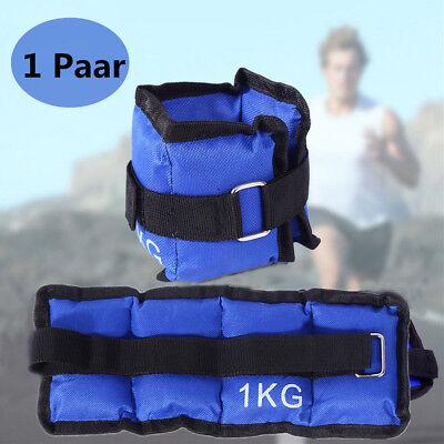 1 Paar Gewichtsmanschetten Laufgewichte für Fußgelenk - und Handgelenke 2 x 1kg