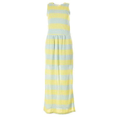 iBLUES MAX MARA Maxi Dress Lime & Blue Stripe Lurex RRP £165 BG