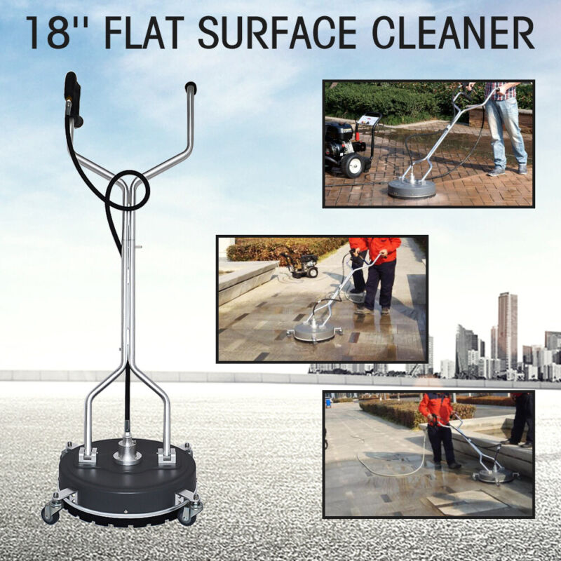 """18"""" Flat Surface&Concrete Cleaner Pressure Washer 4000PSI/275BAR cold/hot Water"""