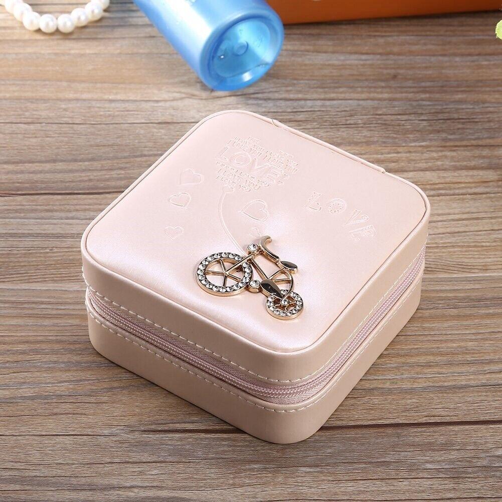 Jewelry Storage Organization Box Small Gift Case Travel Portable Size Organizer Jewelry & Watches