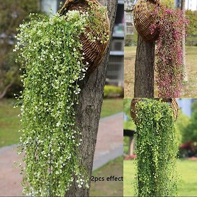 Artificial Hanging Ivy Garland Plants Vine Fake Foliage Flower wisteria Home DIY