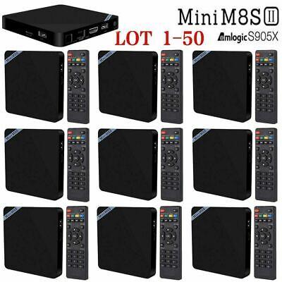 Mini M8S II Smart TV Box Amlogic S905X Android 6.0 4K 1GB 8GB Media Player LOT B