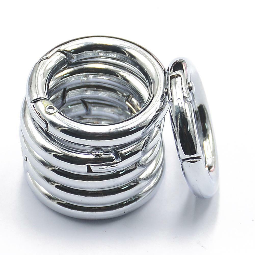 5 Pcs circle round carabiner hook keyring buckle 25mm keycha