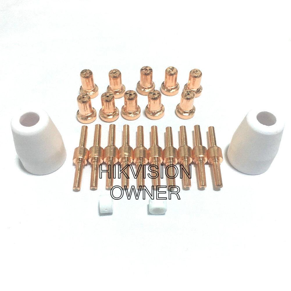 24PCS For PT-31XL PT-31XT Plasma Torch Consumabes TIP 21008 Electrode 20862 40A