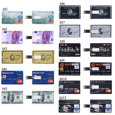 4GB 8GB 16GB 32GB Slim Credit Card Style USB 2.0 Flash Memory Drive U Disk lot (Slim Style Usb)