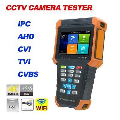 4 Ipc-x4adh H.265 4k Wifi Poe Cctv Camera Tester Ip Ahd Cvi Tvi Cvbs 5in1 Hdmi