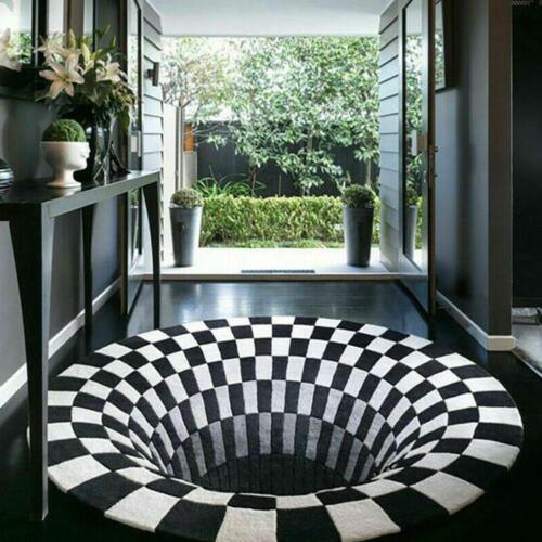 3D Bottomless Hole Optical Illusion Area Rug Carpet Floor Ma