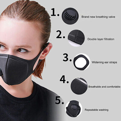 Outdoor Air Purifying Face Filter Mask Face Cover Haze Fog Mouth Mask  Mgic Accessories