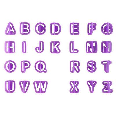 40pcs/set Cake Letter Cutters Fondant Alphabet Icing Cutout Decorating DIY Craft (Letter Cutouts)