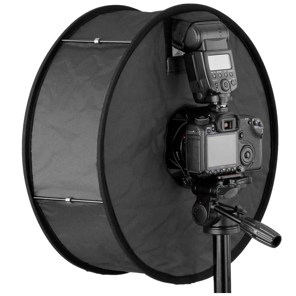 18in45cm Photo Speedlitespeedlight Ring Flash RoundFlash diffuser softbox US