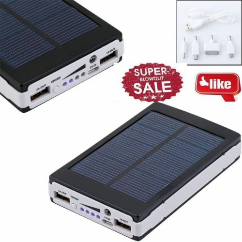 solar power bank 13000mah f r handy tablet ladeger t 2x. Black Bedroom Furniture Sets. Home Design Ideas