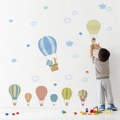 Hot Air Balloon DIY Removable Decals Kid's room Nursery Wall Stickers Art Murals