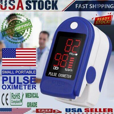 Finger Pulse Oximeter Blood Oxygen Saturation Meter Spo2 Pr Meter Heart Rate Mon