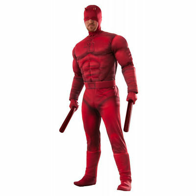 Deluxe Daredevil Costume Adult STD Marvel Comics Superhero Cosplay Matt (Daredevil Comic Kostüm)