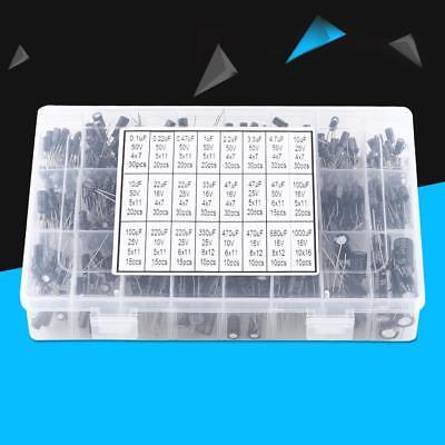 500pcs 24 Value Electrolytic Capacitor Kit Assortment 0.11000uf 1650v With Box