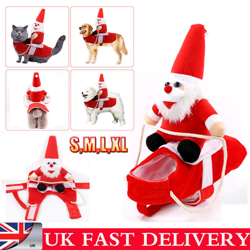 Christmas Pet Xmas Reindeer Dog Costume Cat Hoodie Clothes Coat Puppy Outfit 1