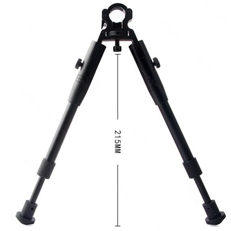 Clamp-on 6-9 inch Bipod for Rifles Round Mount Quick Release Foldable Adjustable