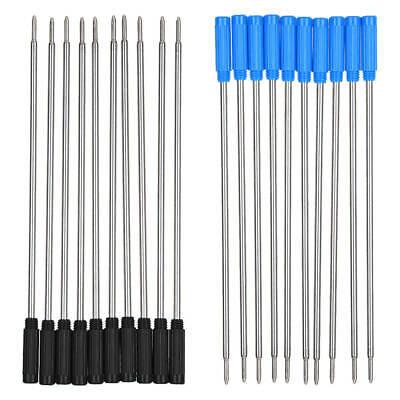 10 Stück Cross Type Kugelschreiber Minen Tinte Medium & Schwarz Blau 116mm ()