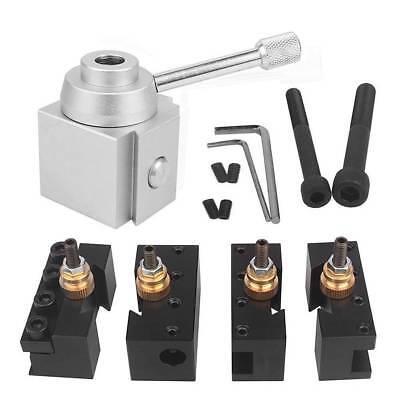 Aluminum Alloy Mini Quick Change Tool Post Lathe Holder Kit For 7x10 1214