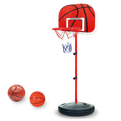 "20""-39.5"" Kids Adjustable Basketball Backboard Net Stand & Hoop Mount System Toy"