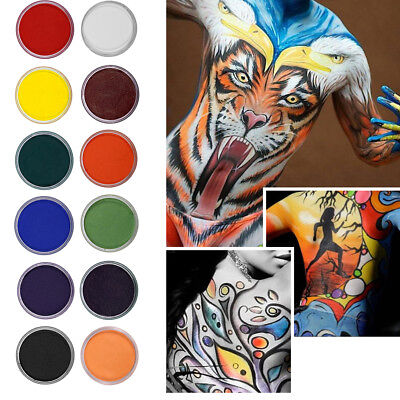 Water Based Matte Face Paint Palette 12 Colors Non-toxic Face Body Painting Kit - Water Based Face Paint
