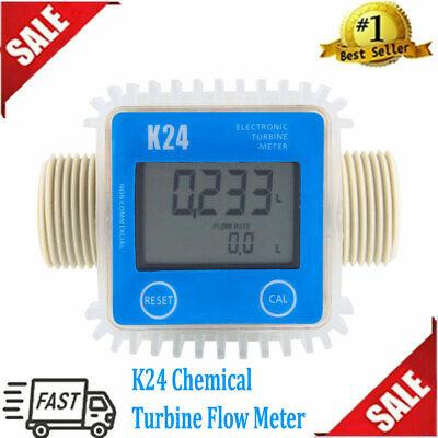 K24 Large Lcd Turbine Digital Diesel Fuel Flow Meter For Chemicals Water Hot