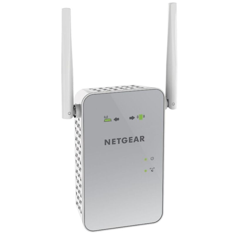 NETGEAR PowerLINE Wi-Fi 1000 Access Point and Adapter White PLW1000-100NAS