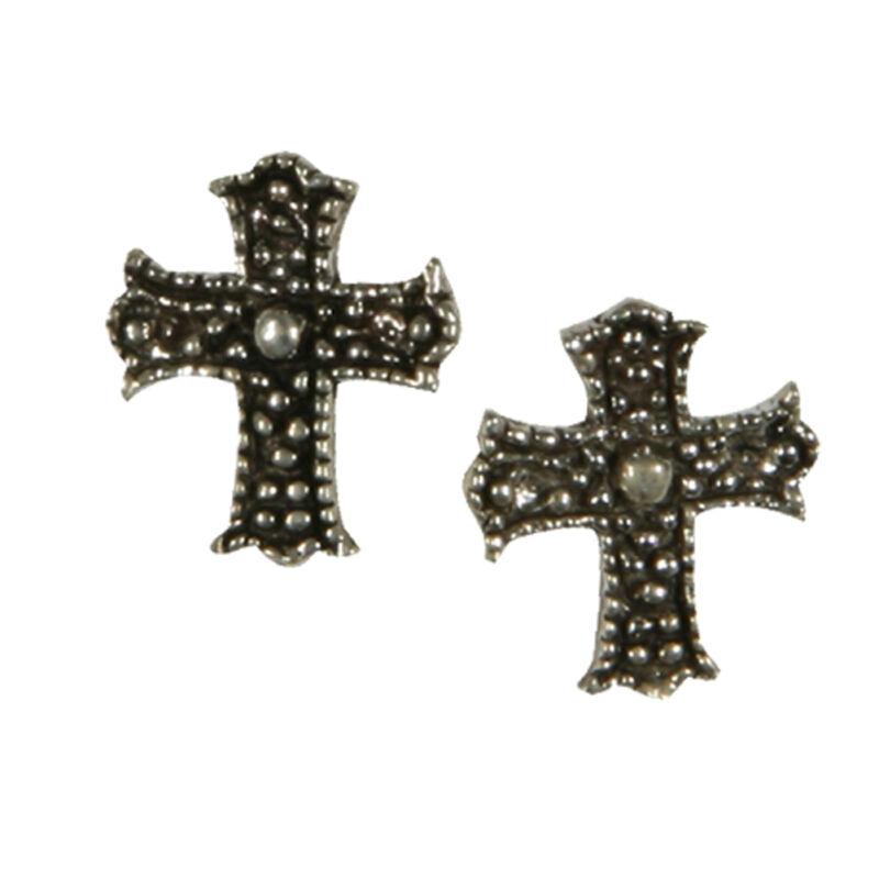 Studded Cross - Stud Earrings