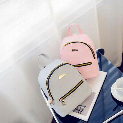 Fashion Faux Leather Mini Backpack Girls Zipper Handbag School Rucksack Bag Cute Leather Mini Backpack Handbag