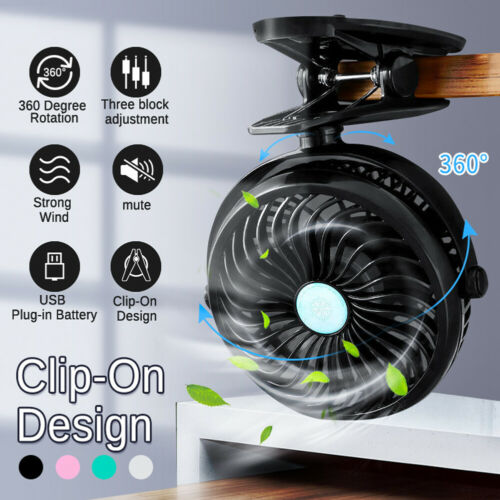 portable usb rechargeable cooling mini fan clip