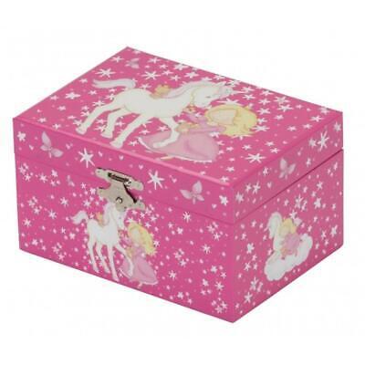 Mele & Co Girls Child Unicorn Princess Musical Jewellery Keepsake Storage Box  Baby Storage Jewelry Boxes