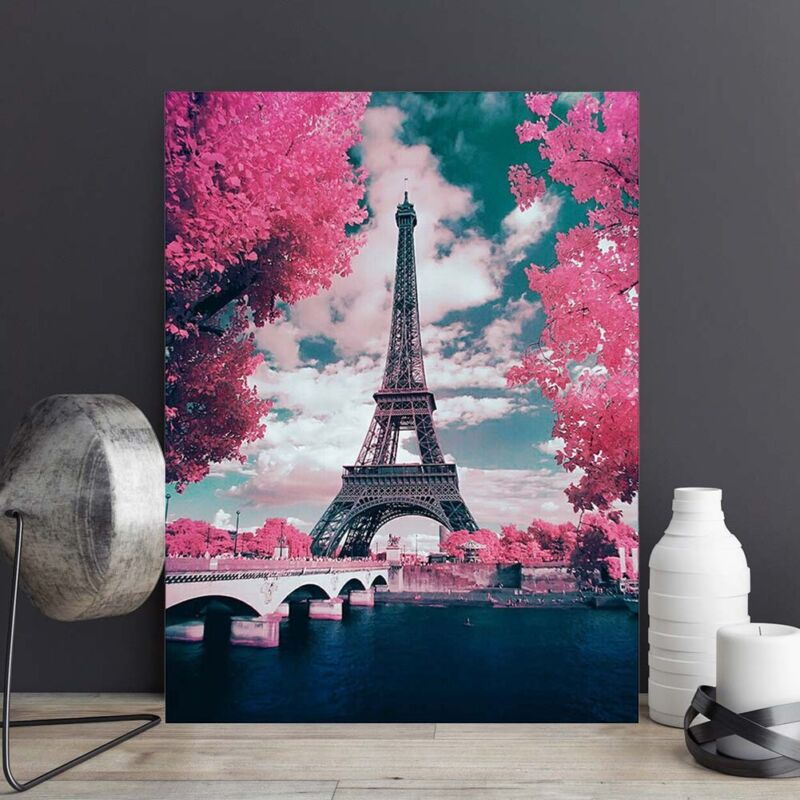 1 Set 5D Diamond Painting Cross Stitch Kits City Scenery Eiffel Tower