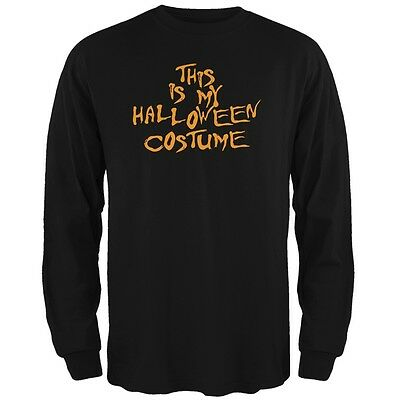 My Funny Cheap Halloween Costume Black Adult Long Sleeve T-Shirt - Funny Cheap Halloween Costumes