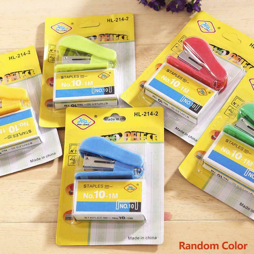 Mini Small Stapler Useful Mini Stapler Staples Set Binding Office Supplies.