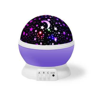 Us Kids Room Led Sky Baby Star Moon Night Light Projector Lamp Bedroom Rotating