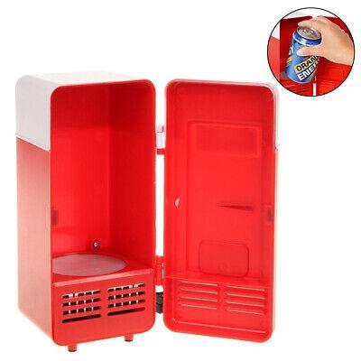 Portable Mini USB Fridge Freezer Refrigerator Cans Drink Cooler Car Office Use
