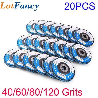 """Premium Zirconia Flap Sanding Disc Grinding Wheel 4-1/2 x 7/8"""" 40 60 80 120 Grit"""