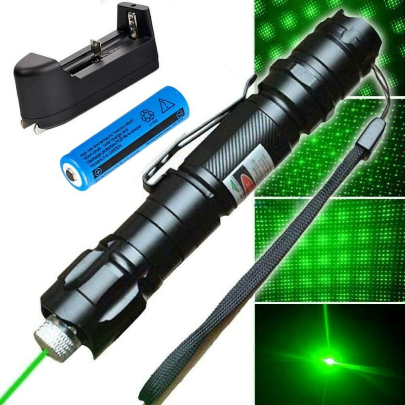 300Miles 009 High Power Green Laser Pointer 532nm Lazer Pen Burning Light Set US