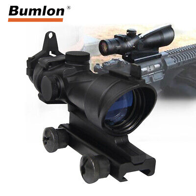 Tactical 4X32 ACOG Rifle Scope Optic Sight for Airsoft fits Picatinny 20MM Rail