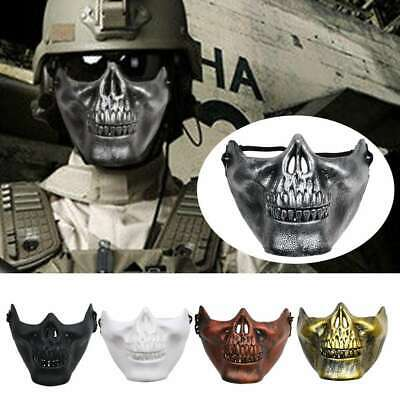 Halloween Skeleton Faces (Skeleton Half Face Mask Costume Halloween Party Airsoft Skull Mask Motorcycle)