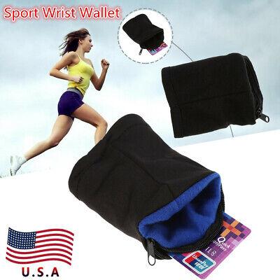 Wrist Wallet Pouch Band Zipper Running Travel Gym Cycling Safe Money Sport Bag