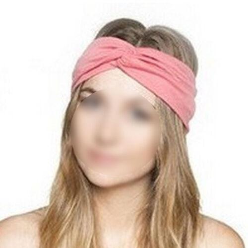 Women Cotton Turban Twist Head Knot Headband Wrap Twisted